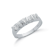 Sterling silver Tension set Cubic Zirconia Half eternity ring